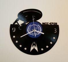 rogeriodemetrio.com: Vinyl clock Star Trek Enterprise