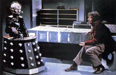Davros and the Doctor. Tom Baker. Thiel-a-Vision » Doctor Who