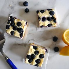 A delicious combination of soft cake, sweet blueberries, delicate ricotta cheese, with a lemony twist.  Cooking with Manuela: Blueberry and Ricotta Cheese Bars