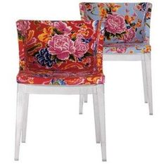 Philippe Starck's Mademoiselle chair, floral print