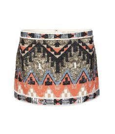 Beaded Aztec Skirt