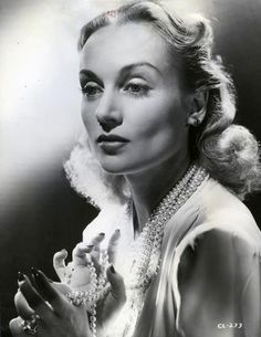 Lombard in Pearls, beautifully backlit, 1941