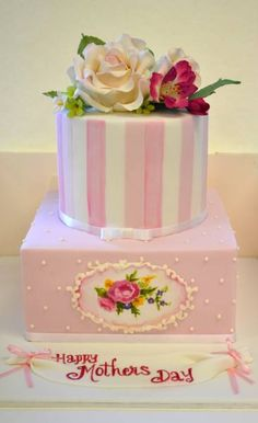 Gorgeous Mother's Day cake by Sweet Ruby Cakes.