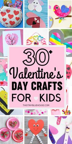 35 Valentine's Day Crafts For Kids that are easy to make and super fun. Add one or more of these adorable crafts to your holiday crafting to-do list! valentines day crafts 35 Adorable Valentine's Day Crafts For Kids Kinder Valentines, Valentine Crafts For Kids, Valentines Day Activities, Valentines Day Decorations, Valentines Day Party, Holiday Crafts, Diy Valentine's Day Decorations, Valentines For Mom, Valentinstag Party
