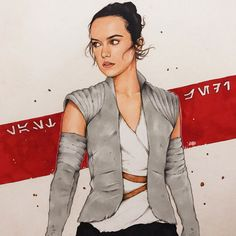 Rey in the Resistance outfit. Happy ✨// Swipe to see the ( Jedi ) steps & - theartofdreams Rey Star Wars, Star Wars Fan Art, Star War 3, S Star, Star Wars Drawings, Star Wars Outfits, Star Wars Wallpaper, Star Wars Gifts, Saga