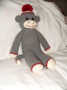 Crochet Quilt, Knit Or Crochet, Crochet For Kids, Crochet Dolls, Crochet Hats, Crochet Sock Monkeys, Crochet Monkey, Crochet Animals, Easy Crochet Projects