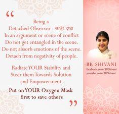 Brahma Kumaris Meditation, Bk Shivani Quotes, Om Shanti Om, Age Of Aquarius, Sister Quotes, Change Quotes, Amazing Quotes, Facebook Sign Up, Thought Provoking