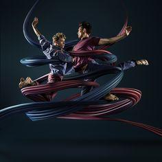 Motion In Air 2 by Mike Campau, via Behance