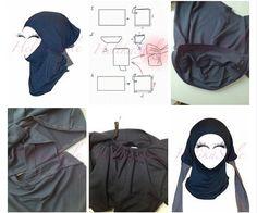 Как сшить подхиджабник HelikaStyle Underscarf Regular :: Sewing classes and tutorials - HelikaStyle Fashion Sewing, Knit Fashion, Hijab Fashion, Sewing Clothes, Diy Clothes, Sewing Tutorials, Sewing Patterns, Abaya Pattern, Instant Hijab