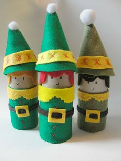 Toilet Paper Roll Elves for the holidays! #Christmas