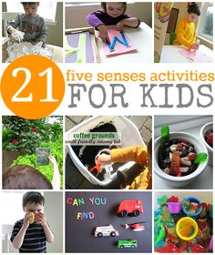 5 senses activities for kids. Foundations: - Use their five senses to learn about the environment. - Use the five senses (touching, smelling, seeing, hearing, tasting) to investigate the environment and to gather information. 5 Senses Activities, Senses Preschool, Preschool Science, Sensory Activities, Craft Activities For Kids, Educational Activities, Learning Activities, Preschool Activities, Autism Preschool