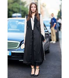 @Who What Wear - Street Style                 Pair it with: Cross-body bag and ankle-strap heels  Stockholm Street Style