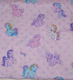 My Little Pony G3 Fabric....I've got this fabric!!