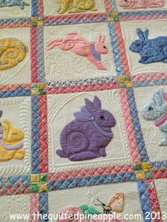 Grandma's Bunnies, quilted by Linda Hrcka | The Quilted Pineapple.  Pattern by Darcy Ashton.