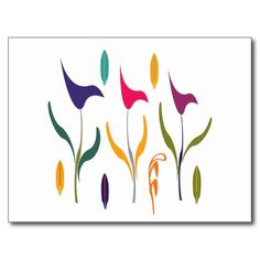 Bright Calla Lilly Watercolor Impression Postcard