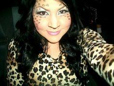 Cheetah print animal print halloween makeup halloween costume