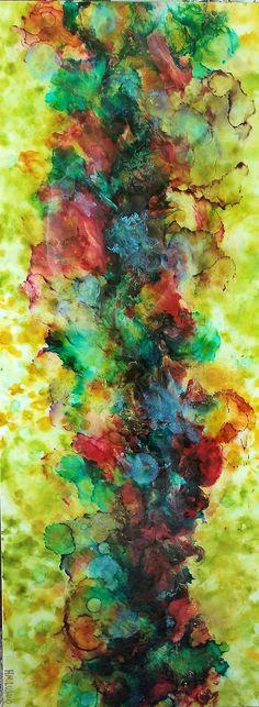 """#Art_Resin 16"""" x 40"""" """"Rose Garden"""" Artist: HM Lujano Art Resin, Studio, Rose, Garden, Artist, Painting, Pink, Garten, Lawn And Garden"""