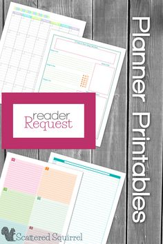 There is nothing I love better than planner printables. Check out the blank portrait layout calendars (in blank and lined), the daily agenda, weekly planner and weekly to-do list.