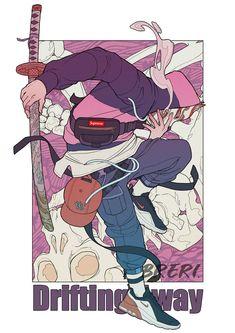 Game Character Design, Character Design Inspiration, Character Concept, Character Art, Concept Art, Cyberpunk Anime, Samurai Artwork, Science Fiction Art, Geek Art