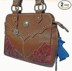 Amazon.com: Concealed Carry Purse - Leather CCW Gun Bag- Left and Right-hand Draw - Medium Brown: Sports & Outdoors
