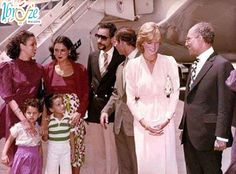 Princess Diana with the late president Anwar el Sadat during one of her visits to Egypt.