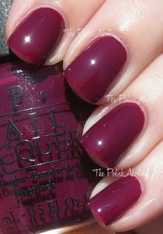 In The Cable Car-Pool Lane OPI Fall 2013 San Francisco Collection Swatches