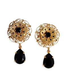 Dolce & Gabbana Gold-Plated Drop Stud Earrings