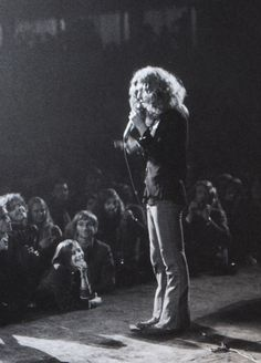 Robert Plant on stage at the Royal Albert Hall, 1970.