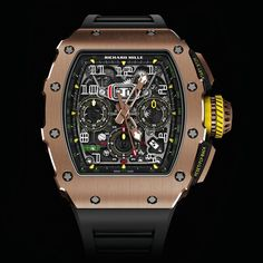 Re-styling is a crucial element in the lifecycle of any product. A watch has to possess vitality and be integrated within the natural stylistic development of a brand. A fixture of the Richard Mille collection since 2007, the RM011 is taking its bows. Retiring at the height of its glory, it will make way for the All NEW Design RM11-03 Automatic Flyback Chronograph as picture above.