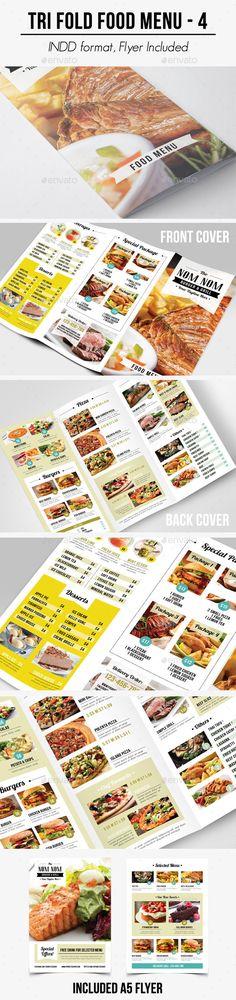 Tri Fold Food Menu - 4