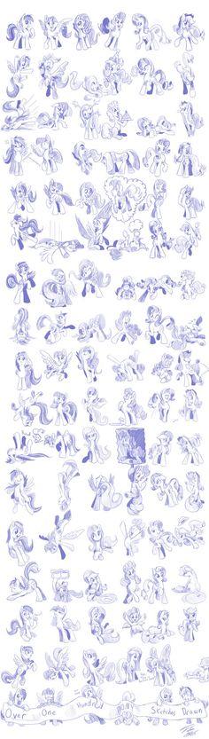 All those poses, yo. (by Tsitra360 @ deviantART)