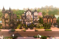 Sims 3 Houses Ideas, House Ideas, Sims House Design, Sims 4 Build, Maxis, Cathedral, Mansions, House Styles, Building