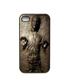 Han Solo in Carbonite iPhone case. This may be the best thing I've ever seen.
