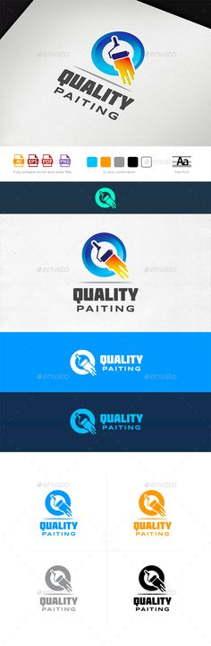 Quality Painting Logo Template by Osokin_OZ Exclusively crafted logo for any painting or decorating businesses. Logotype can also perfectly fit any other contractor or manufa