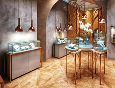 Metal Jewellery Showcase,Metal Jewelry Display Stands-Jova Display Furniture Co. Metal Jewelry, Jewelry Shop, Jewelry Stores, Jewelry Display Stands, Jewellery Display, Indian Bedroom Decor, Show Case, Jewelry Showcases, Custom Glass