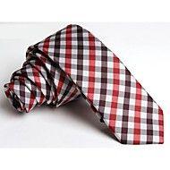 Nice Red Check #skinny #tie