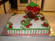 strawberry shortcake house cake - Google Search