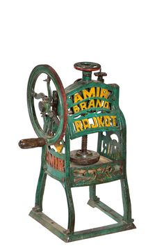 #Original Amir Brand Rajkot Ice Gola from the early 19th Century! Fresh shaved ice anyone? #Industrial #Antique #Vintage www.antiquesdirect.ca