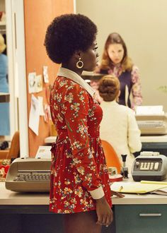 Lots of movies. Lots of tv shows. Lots of anything. Deal with it. Mad Men Fashion, 70s Fashion, Vintage Fashion, Vintage Beauty, Afro, Secretary Outfits, Mad Women, Colourful Outfits, The Guardian