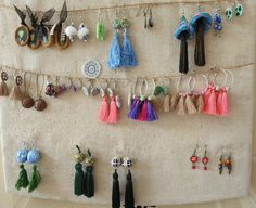 des cadeaux à offrir. .. Drop Earrings, Fimo, Polymer Clay Jewelry, Gifts, Birthday, Drop Earring