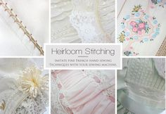 Basic Heirloom Stitching by Machine