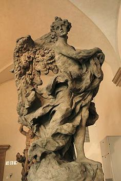 Mathias Bernhard Braun - Angel 1(1717-1718),sandstone,245cm,Prague-National gallery