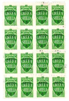 popular retail saving stamps used in Ireland back in the day. While the Green Shield stamps started in UK the retail savings stamps idea origated in the United States. 1970s Childhood, My Childhood Memories, Great Memories, Memories Box, Green Shield, Nostalgia 70s, Just In Case, Just For You, I Remember When