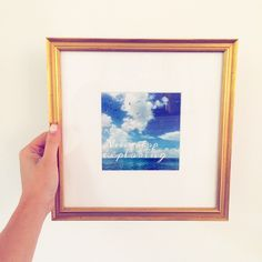 """""""Never Stop Exploring"""" – love @womanista's dreamy print for her #wanderlust gallery wall in our #Richmond frame."""