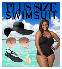 """""""Plus size swimsuit"""" by tally-stew ❤ liked on Polyvore featuring Kiyonna, IPANEMA, Finn, stylishcurves and plussizeswimsuit"""