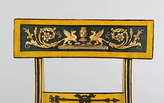 Attributed to John Finlay  (Active Circa 1799–1833). Fancy Paint-Decorated Side Chair. Baltimore, Maryland. Circa 1815-1820. Back-Rest View.