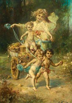An Allegory Of Fall - Hans Zatzka (1859 – 1945, Austrian)