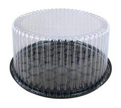 Wilkinson G27 9 inch 2-3 Layer Plastic Cake Display Container with Clear  Dome Lid f049b8f5bf62
