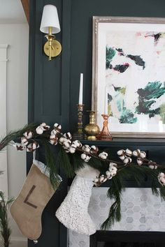 Cotton garland and a