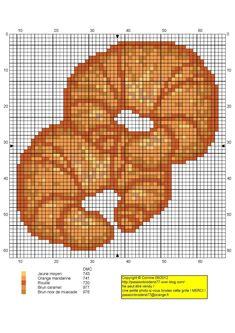 Croissants x-stitch